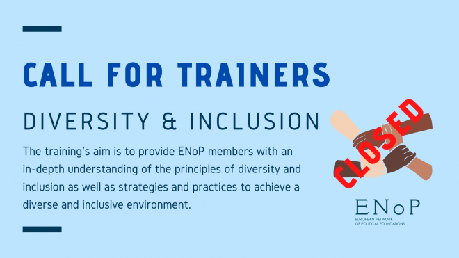 Call for Trainer: Training on Diversity and inclusion