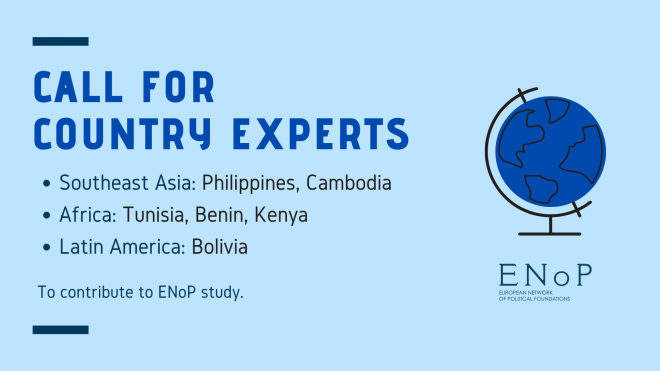 Call for 6 Country Experts for ENoP Study