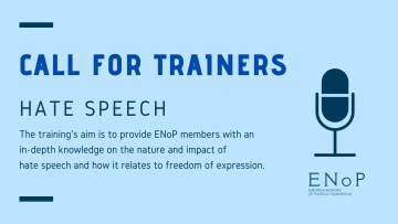 Call for trainers: Hate Speech