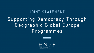 Supporting democracy through geographic Global Europe programmes
