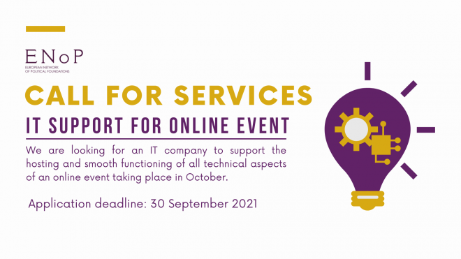 Call for services: IT support for online event