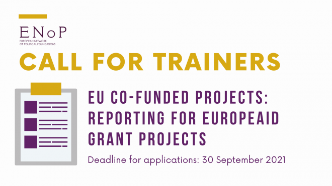 Call for trainers: EU Co-Funded Projects - Reporting for Europeaid Grant Projects